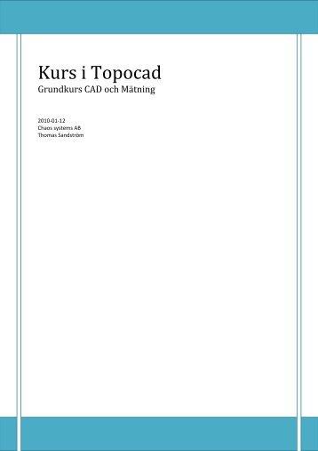 Kurs i Topocad - Adtollo