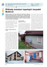 Příklady instalací tepelných čerpadel Buderus - Stavebnictví a interiér