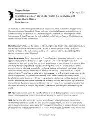 An interview with Susan Buck-Morss # 34   April 2011 - Platypus