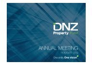 AGM Presentation 15 August 2012 - DNZ Property Fund