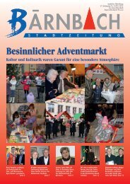 Besinnlicher Adventmarkt - Bärnbach