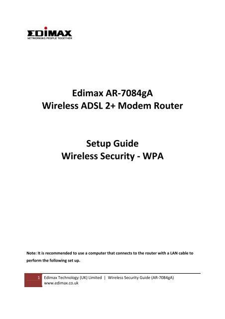 NEW DRIVER: EDIMAX AR-7064G A
