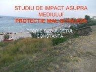 Studiu de Impact Asupra Mediului Protectie Mal si Faleza Eforie Sud ...