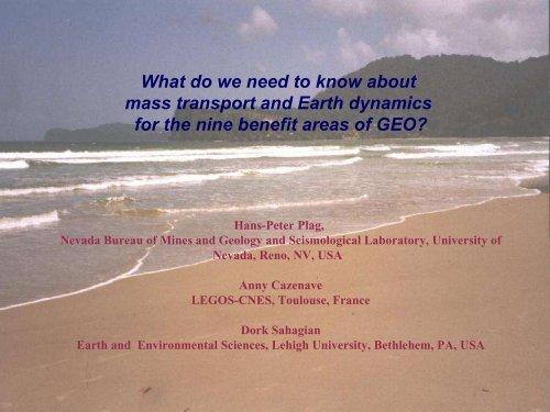 Water: Global Water Cycle - Nevada Geodetic Laboratory