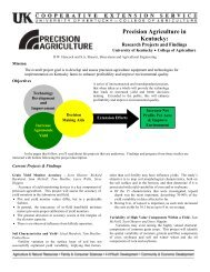 Precision Agriculture in Kentucky - Biosystems and Agricultural ...