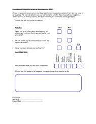Assessment Patient Experience Questionnaire (PbR) Please ... - IAPT