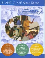 Fiscal Year 2005 Annual Report - South Carolina Area Health ...