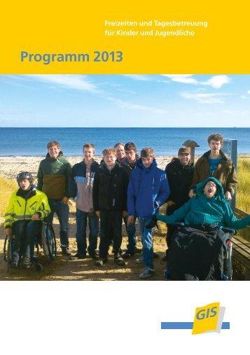Freizeitprogramm für das Jahr 2013 - bei der gGIS mbH