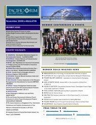 November 2009 e-Bulletin(.pdf) - Pacific Rim Advisory Council (PRAC)