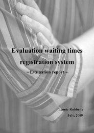 Evaluation waiting times registration system - Dutch Hospital Data