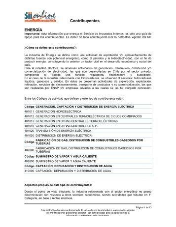 Energía - Servicio de Impuestos Internos