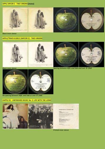 APPLE APCOR 2 - John Lennon and Yoko Ono - applerecords.nl