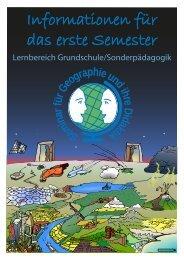 Informationen für das erste Semester - Seminar für Geographie und ...