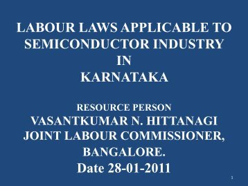labour laws applicable to semiconductor industry in karnataka