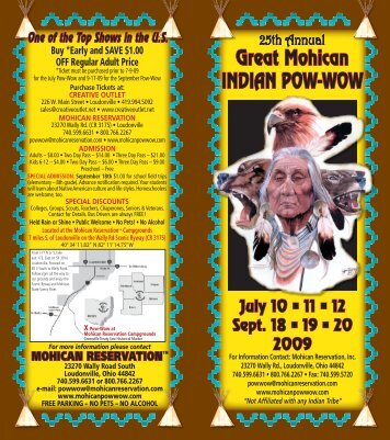 Great Mohican INDIAN POW-WOW - Great Mohican Pow-Wow