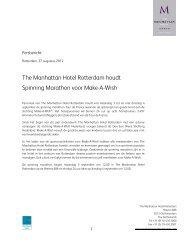 The Manhattan Hotel Rotterdam houdt Spinning Marathon voor ...