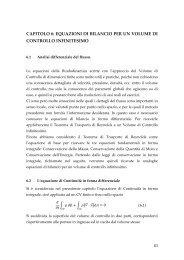 CAPITOLO 6: EQUAZIONI DI BILANCIO PER UN VOLUME ... - Dimeca