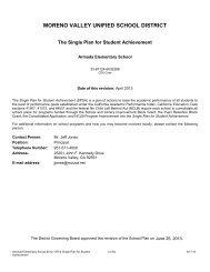 armada school site council bylaws - Moreno Valley Unified School ...