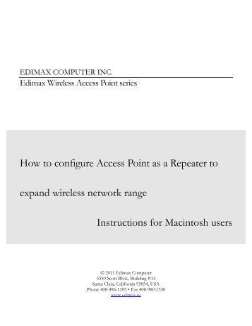 How to configure Access Point as a Repeater to expand wireless ...