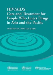 HIV/AIDS Care and Treatment for People Who Inject Drugs in Asia ...