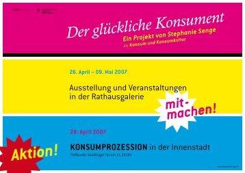Ausstellung und Veranstaltungen in der ... - Stephanie Senge