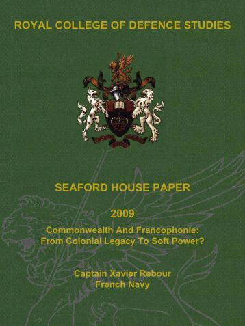 Commonwealth and Francophonie - Defence Academy of the United ...