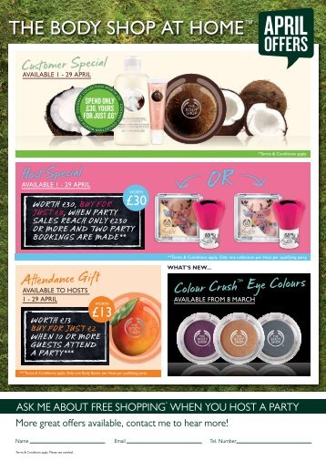 OFFErS - The Body Shop