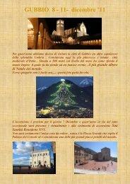 GUBBIO 8 - 9 - 10 - 11- dicembre '11 - InCaravanCLUB ITALIA