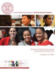 2011-2012 Diversity Alumni Programs Summary - Alumni - Cornell