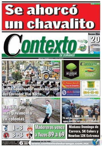 20/07/2013 - Contexto de Durango