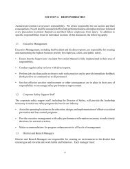SECTION 1: RESPONSIBILITIES Accident prevention ... - Layne Safety