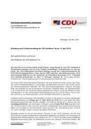Einladung zum Frühjahrsempfang der CDU Neuffener Tal am 13 ...