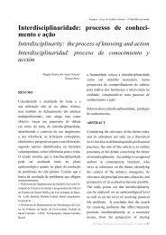 Interdisciplinaridade: processo de conheci- mento e ação - Unioeste