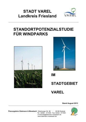 Standortpotenzialstudie für Windparks im Stadtgebiet ... - Stadt Varel