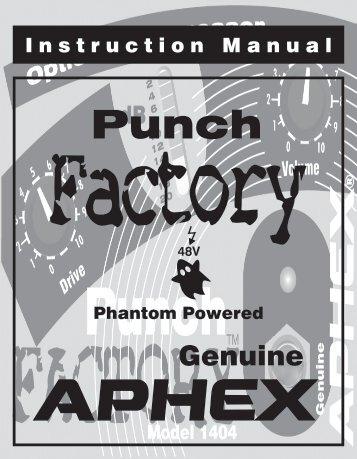 Punch Factory User Manual - Aphex