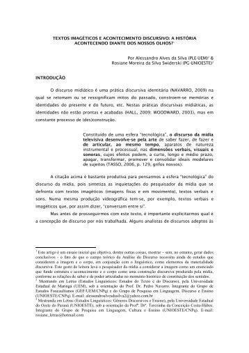 TEXTOS IMAGÉTICOS E ACONTECIMENTO DISCURSIVO: A ...