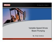 Variable Speed Drives Beam Pumping