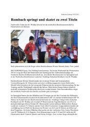 Rombach springt und skatet zu zwei Titeln - Skiclub Hinterzarten