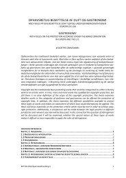 Ophavsretlig beskyttelse af duft og gastronomi Med fokus på den ...