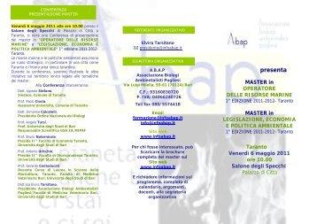 """Presentazione Master in """"OPERATORE DELLE RISORSE MARINE ..."""