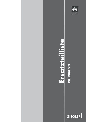 Ersatzteilliste HR 1055-GH