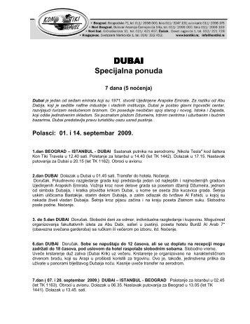 Dubai SPEC PONUDA TK - Kontiki