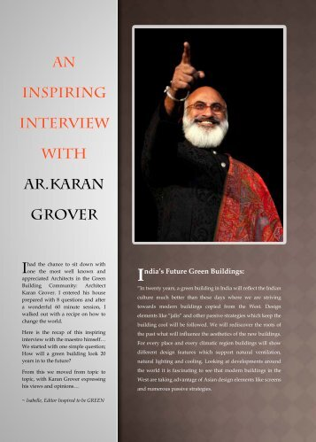 AN INSPIRING INTERVIEW WITH Ar.karan grover - Inspired to be ...