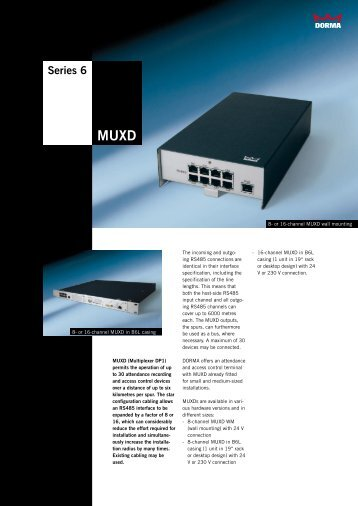 Series 6 MUXD - Dorma