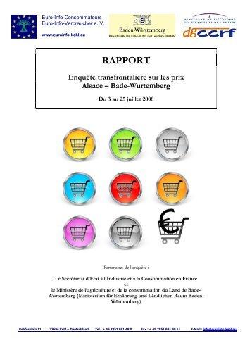 Rapport complet - Centre Européen de la Consommation