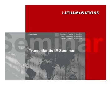 Patent Damages in Germany - Latham & Watkins