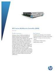 HP E-series MultiService Controller (MSM) - Hewlett Packard