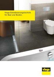 Viega Entwässerungstechnik für Bad und Boden.