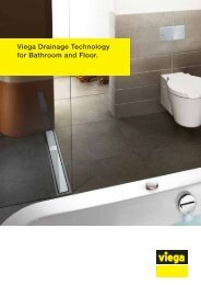 Viega Drainage Technology for Bathroom and Floor.