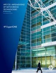 HP0-Y30: Implementing HP Networking ... - 3Com - Hewlett Packard